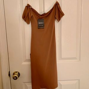 Forever 21 Dresses - Knit Dress - Camel